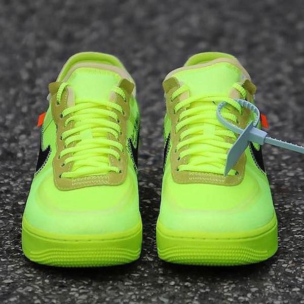 nike air force 1 off white sneakers Flyknit Utility Scarpe casual da uomo progettista 2019 1 Scarpe da ginnastica piatte da uomo di lusso da uomo verde giallo rosso Lime