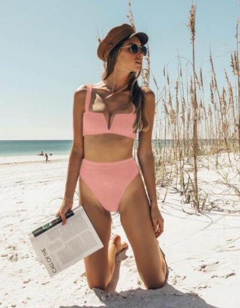 Top Sexy cava pannello di stampa in crosta di cuoio oro brillante del V-collo sexy vita alta bikini set da spiaggia yakuda costumi da bagno dello sport fitness un pezzo