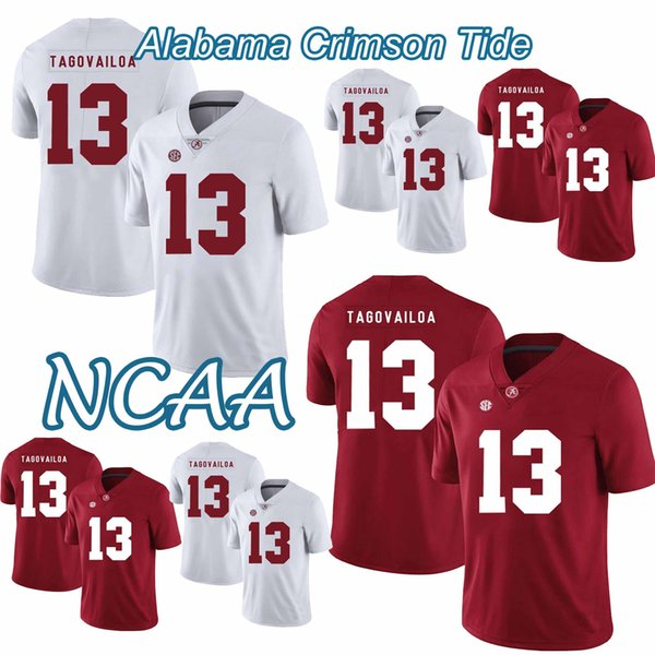 Alabama Crimson Tide Football Jersey College NCAA 13 Tua Tagovailoa Najee Damien Harris Jerry 2018-2019 NUEVO de alta calidad