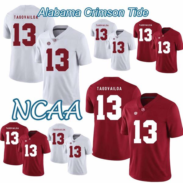Алабама Багровый прилив НКАА колледж футбол Джерси 13 Туа Tagovailoa Наджи Дэмиен Харрис, Джерри 2018-2019 новый высокое качество