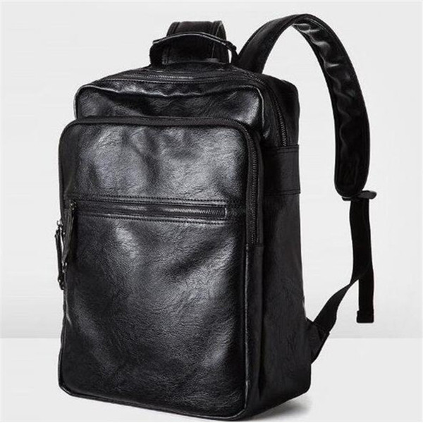 Factory sales brand new Europe college mens bag wind leisure brand backpack for male and female students wear flexible leather ba