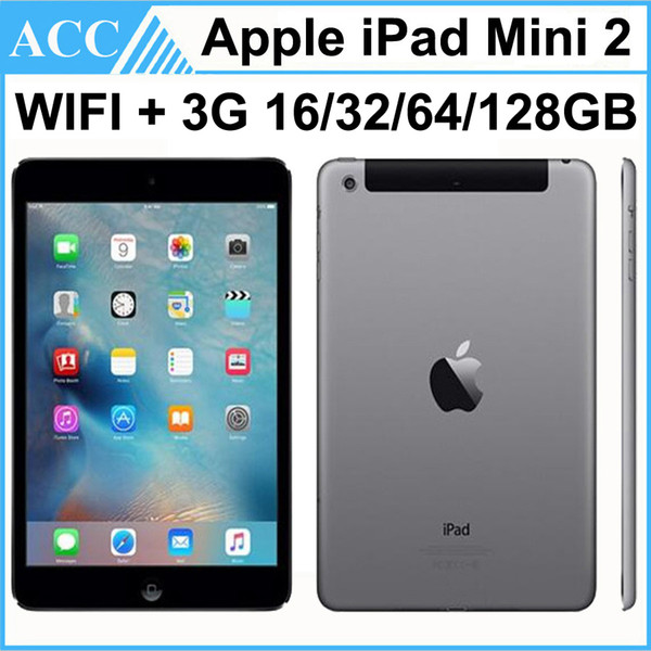 best selling Refurbished Original Apple iPad Mini 2 WIFI + 3G Cellular 16GB 32GB 64GB 128GB 7.9 inch Retina IOS Dual Core A7 Chipset Tablet PC DHL 1pcs
