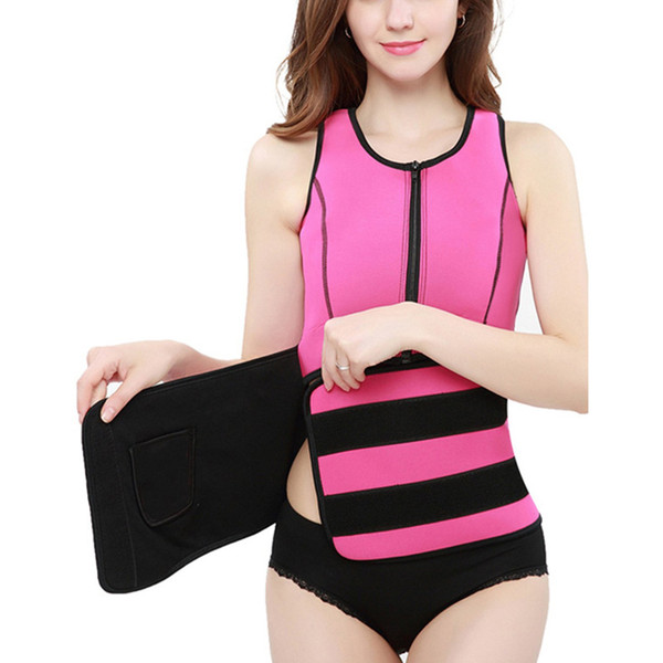 Neoprene auna weat ve t wai t trainer cincher women body limming trimmer cor et workout thermo pu h up trainer