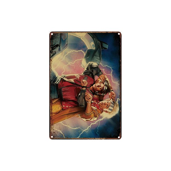 classic vintage retro Back to the future series tin sign Coffee Shop Bar decoration Bar Metal Paintings
