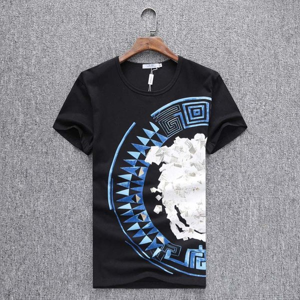 2019 New Summer Crew Neck T Shirt Fashion High Quality T-shirt Classic Printed Men's Cotton Leisure Slim fit Short Sleeve T-shirt #5239