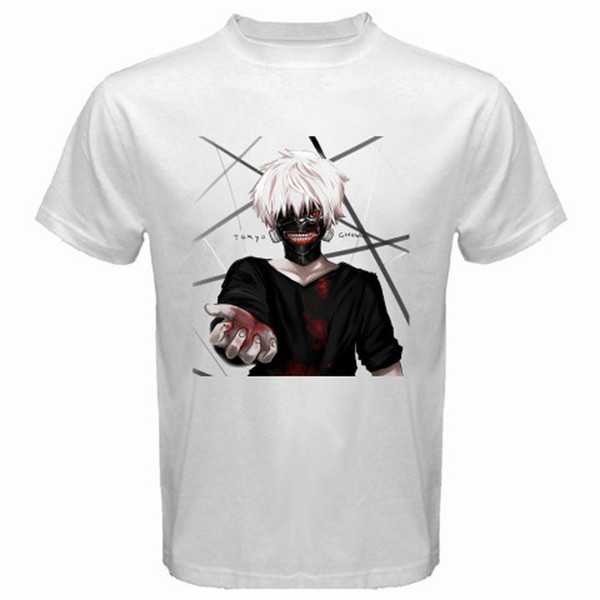 New Tokyo Ghoul Anime Manga Men's White T-Shirt Size S to 3XL Men Women Unisex Fashion tshirt Free Shipping Funny Cool Top Tee White