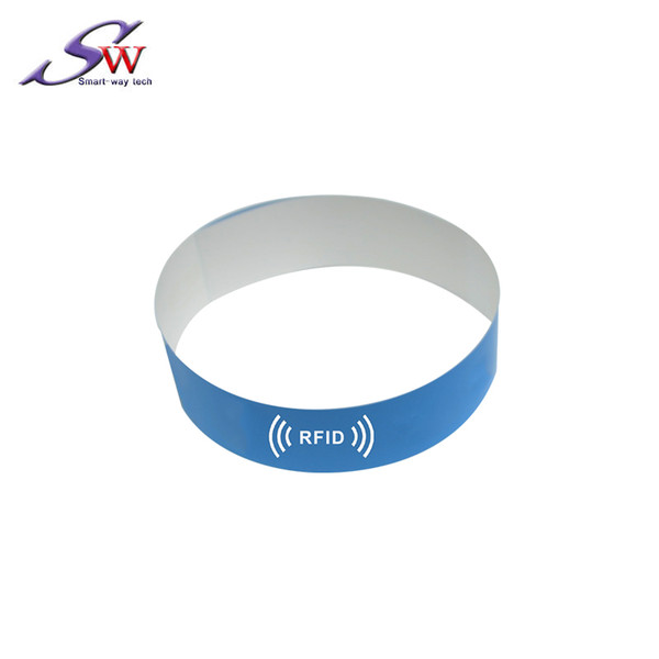 New Design No logo 13.56Mhz I-CODE Chip RFID Hospital Dsiposable Paper Wristband Bracelet for Events