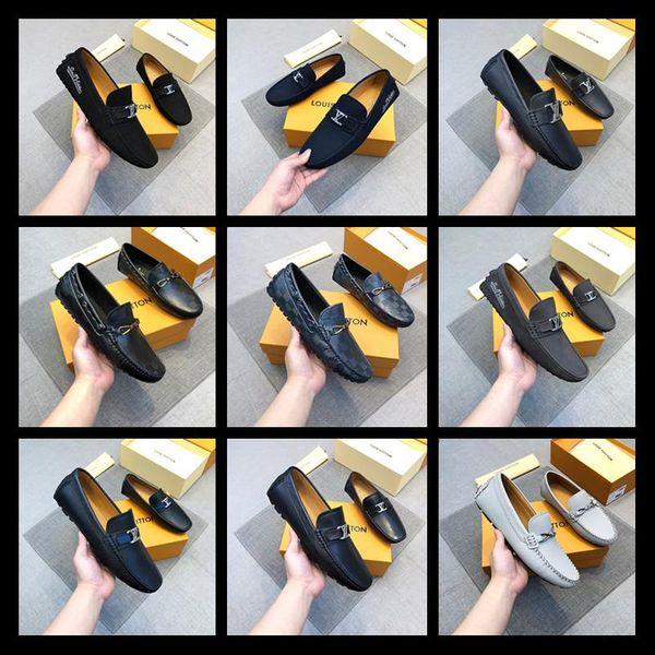 2020 NEW Find Similar men genuine leather shoes luxury handmade loafers slip on italian brand designer male dress shoes big size 38-45