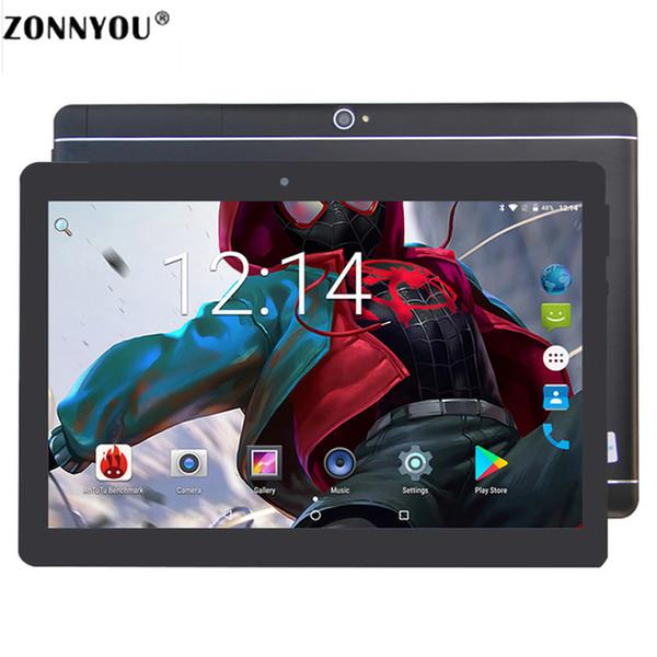 10.1 pulgadas Tablet PC Android 8.0 3G Llamada de teléfono Tarjeta SIM dual Octa Core 4GB / 64GB Wi-fi Bluetooth GPS Tablets PC (Negro)