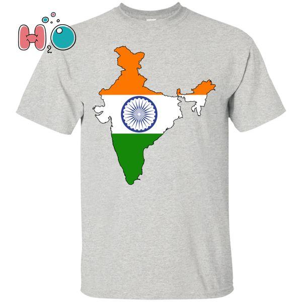Esboço da bandeira e do país de India - TShirt nacional do orgulho Punjab Mumbai Pune