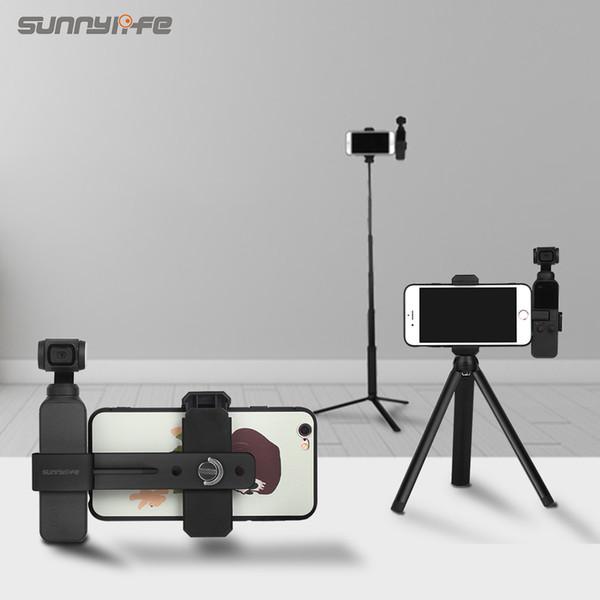 Sunnylife Smartphone-Befestigungshalterungsklemme ausziehbares Stativ für DJI OSMO POCKET