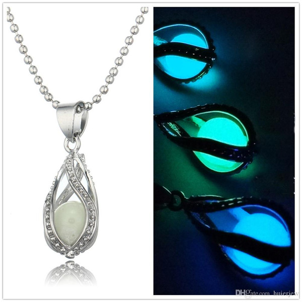 Glow In The Dark Medaillon Halsketten Hollow Glowing Stone Anhänger Luminous Statement Chocker Anhänger Halskette