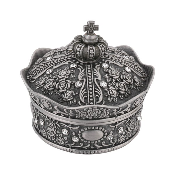 Jewelry Storage Box for Necklace Bracelet Ring Earring Display Crown Shaped Rose Flower Jewelry Organizer Case Home Decoration
