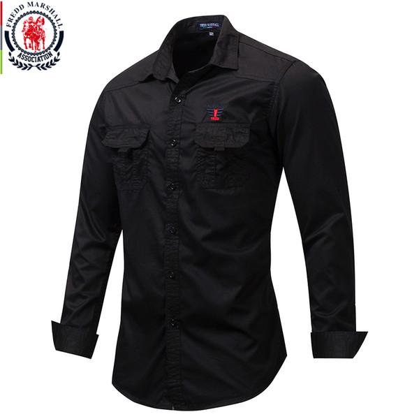 Personalizzato//Ricamato Manica Lunga Nero Camicia Rugby XS-3XL