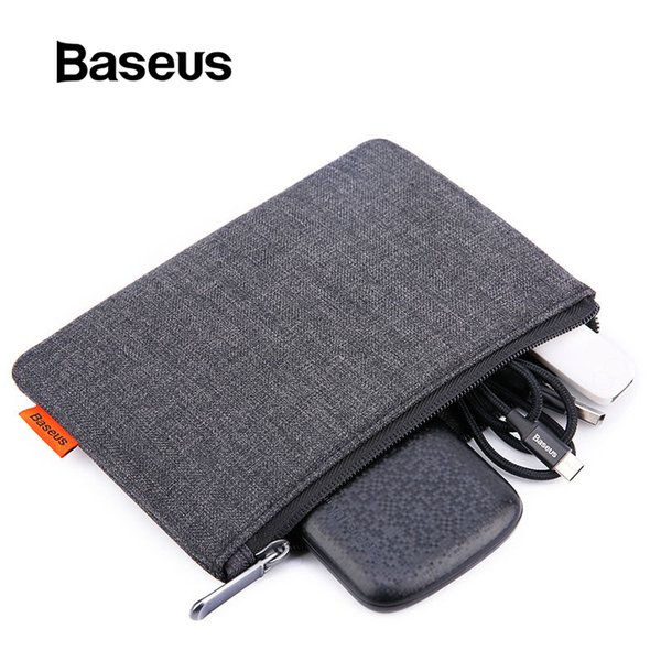 Baseus 5.5 Inch Phone Bag For iPhone 8 7 Plus Waterproof Cloth Fabric Pouch For Samsung Galaxy S7 S6 Case Storage Accessories