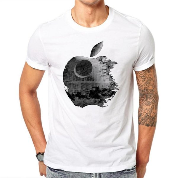 100% Cotton Summer Men T Shirts Fashion Weathering Apple Design Man Short Sleeve Tops Tees Clothes XXXL