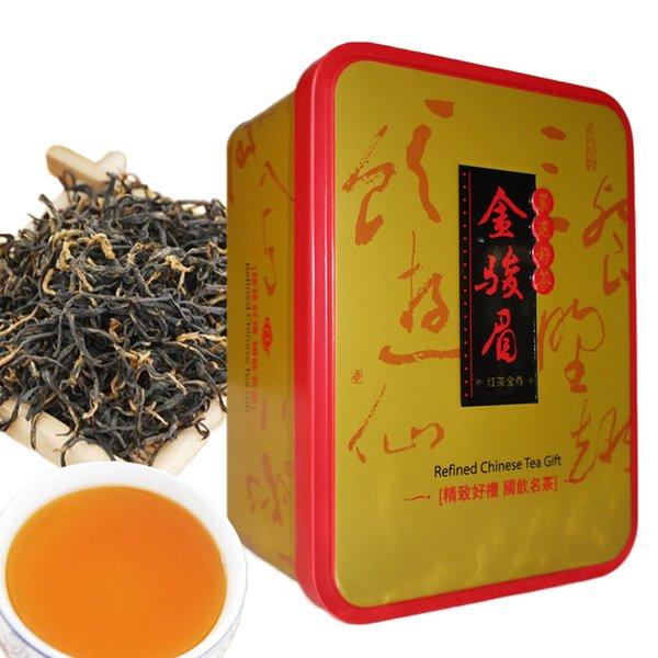 104g Chinese Bio Schwarzer Tee JinJunMei Kimchunmei Red Tea Health Care New Gekochter Tee Green Food Eisen Boxed Geschenk-Paket