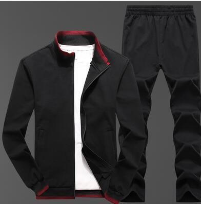 best selling Autumn and winter new sports suit men's coat warm sweater trousers casual wear two piece trend
