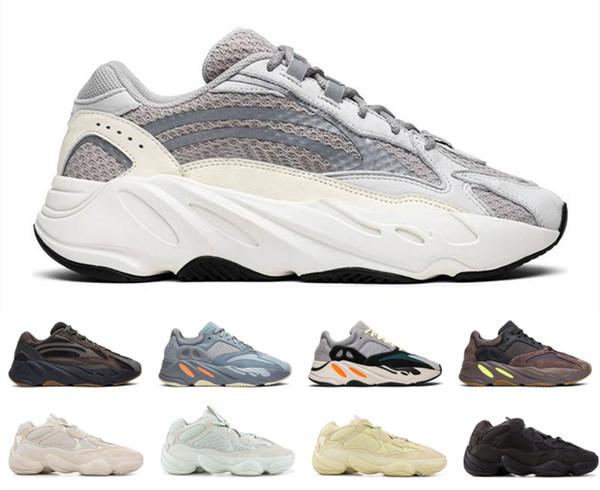 best selling 2019 500 700 Salt Running Shoes Mauve Wave Runner Mens Womens Static Refective Rat Super Kanye West Athletic Sports sneaker