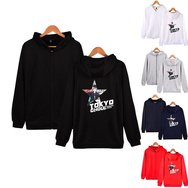 Anime Tokyo Ghoul Hoodie Fashion Zipper Men Women Hoodies Jackets Casual Tracksuit Tops Long Sleeve Unisex Hooded Sweatshirt 4XL