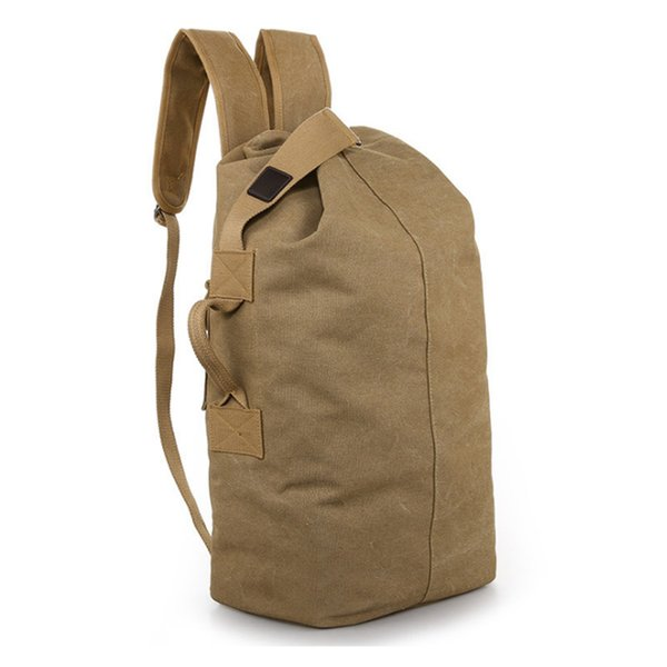 Luxury 2019 Retro Canvas Mens Bag Outdoor Mountaineering Shoulder Backpack  Male Large Capacity Travel Computer Backpack Fitness Bag Hot Sale 54bff21f22af4