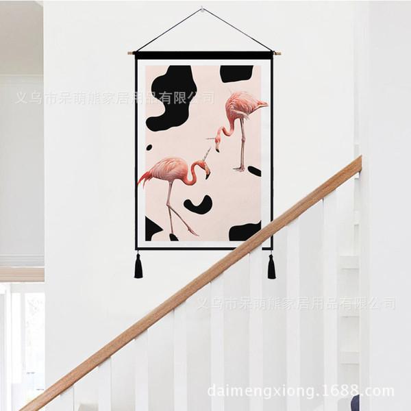 Acheter Groupe Combiner Europe Du Nord Décoration Animale Peinture Un Salon Couloir Ameublement Tapisserie Personnalisé Peinture Murale Peinture
