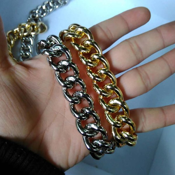 "gold color Aluminum chain long 31.5"" ,39.37"" little series bags chain ancient coarse metal belting hardware accessories"