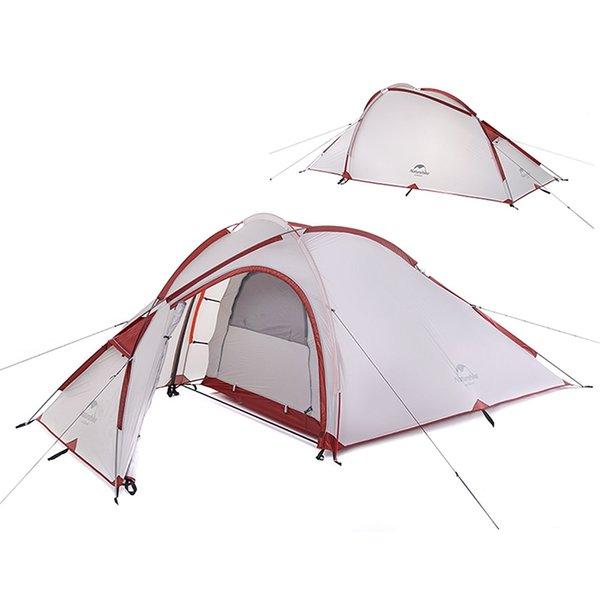 NatureHike 3 Adam Büyük Kamp Çadır Açık Ultralight bir yatak odası bir oturma odası Kamp Çadırları MMA2176