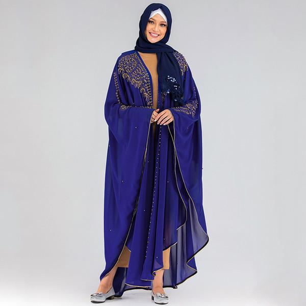 Bleu Abaya Taille