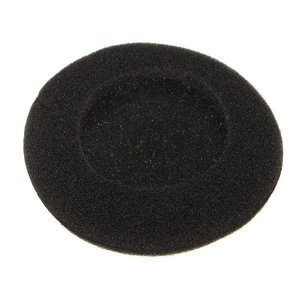 sponge LEORY 8 pcs/ lot Black phone Ear 60mm 2.35'' Headset Headphone Earphone Soft Foam Sponge Ear Pads