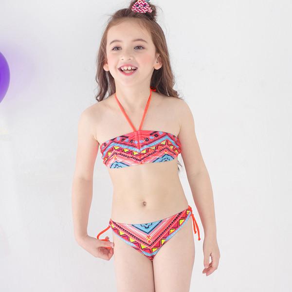 BebésNiñasTrajes Para Bikini De Niños 2018 Piezas BañoBaño Dos Chicas Compre Split yvNPO0m8nw