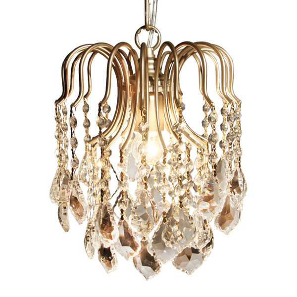 Pendant Lights Modern Crystal K9 aisle LED pendant lamp pendant fixtures abajour for dining living room bedroom kitchen
