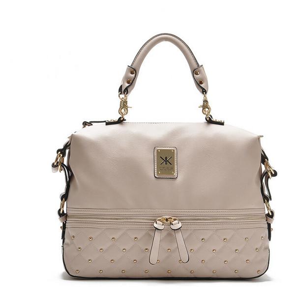 Designer-Fashion kardashian kollection brand black chain women handbag shoulder bag big capacity KK Bag totes messenger bag free shopping