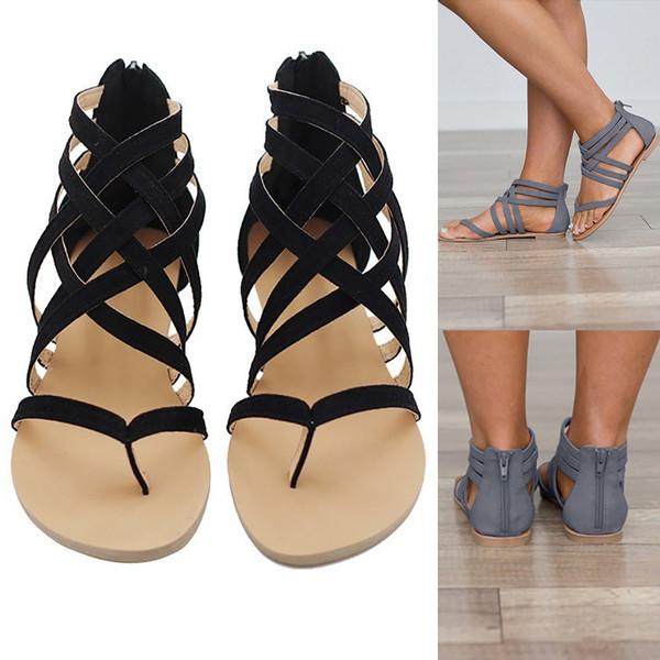 Sandales femmes Confortable tongs été chaussures pour dames femmes Rome sandales décontractées femmes sandalia feminina # 926