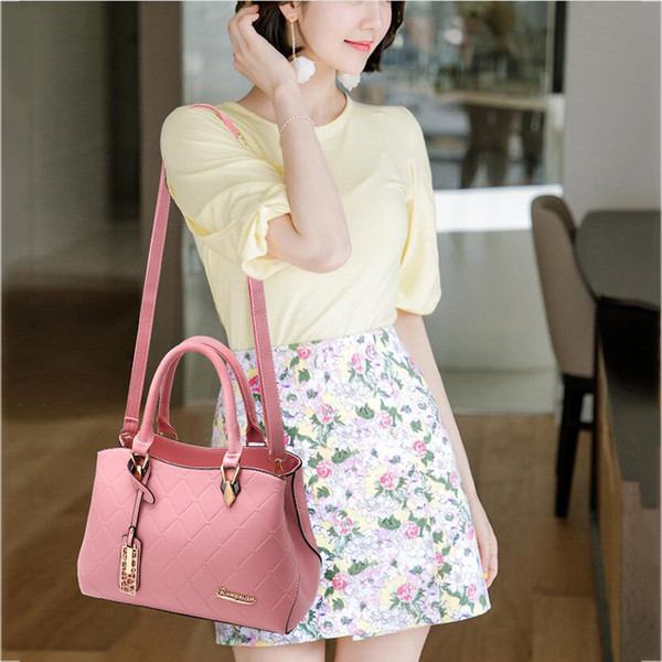 Handbags pu female bag metal sheets decoration Solid Messenger sweet lady fashion Crossbody Bag luxury women shoulder bag