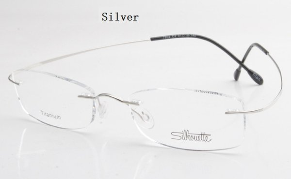 best selling Luxury-brand Silhouette Titanium Rimless Optical Glasses Frame No Screw Prescription Eyeglasses With Bax Free Shipping
