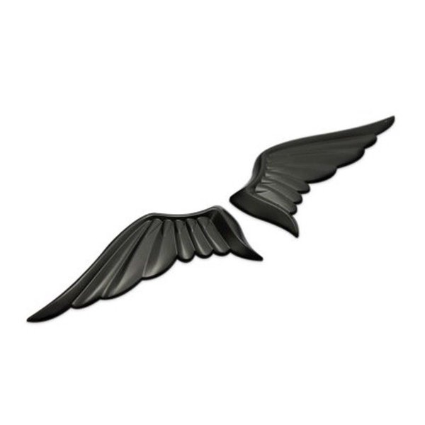 Gzhengtong Black 3D Angel Wings Style Car Auto Motorcycle Truck Body Emblem Badge Stickers