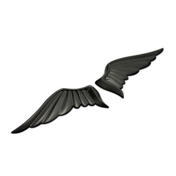 Gzhengtong Noir 3D Ange Ailes Style Voiture Auto Moto Camion Corps Emblème Badge Autocollants