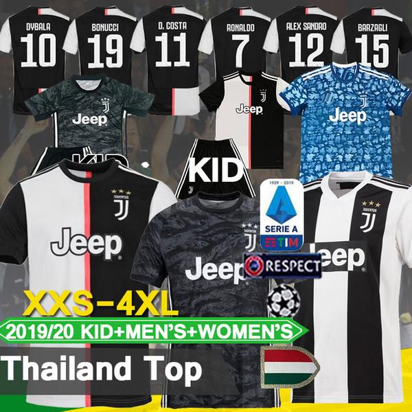 19 20 Thailand top RONALDO Juventus Jersey DYBALA Football Shirt MANDZUKIC Kean Emre Can 2019 2020 Juve BUFFON BERNARDESCHI MEN+Kids
