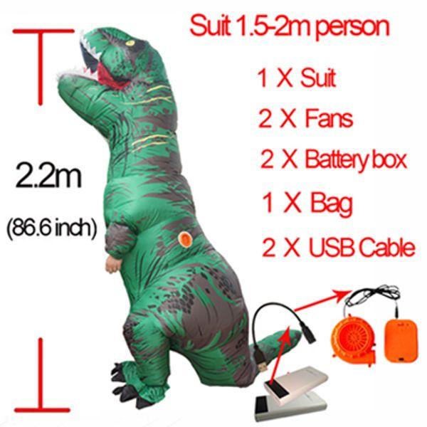 Green L Dinosauro gonfiabile