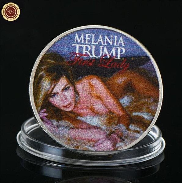 best selling Melania Trump American First Lady Commemorative Coin Coins Melania Trump Coin President Donald Craft Souvenir Gold Silver Metal Badge