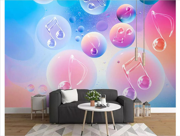 Custom 3d photo murals wall paper home decor Fashion music bar KTV sofa background wall decoration painting papel de parede