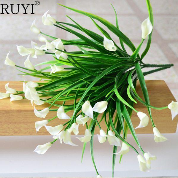 ini usb video camera New beautiful 25 heads/bouquet mini artificial calla with leaf fake plastic lily Aquatic plants home room Christmas ...