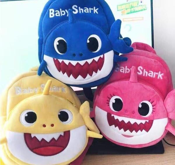 Dos Desenhos Animados de Pelúcia Tubarão Mochila Saco de Escola Menina Menino Crianças Crianças Mochilas Escolares Mochilas Tubarão Bebê Infantil Escolar Mochilas