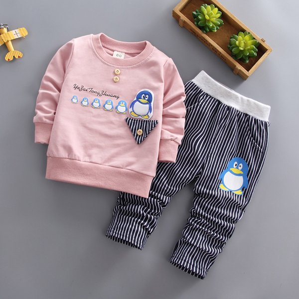 spring autumn boys clothing sets kids clothes 2019 new children tracksuit t-shirt pant baby sweatshirt cartoon casual sport suit