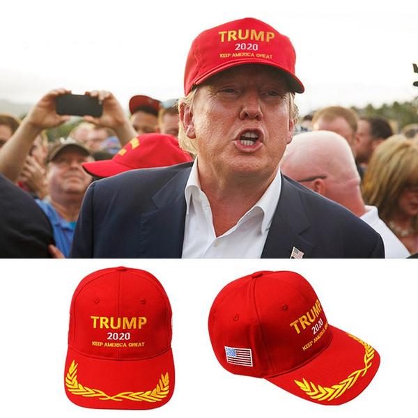 Il ricamo del berretto da baseball di Donald Trump 2020 rende l'America ancora una volta eccezionale Cappello repubblicano Trump Caps Q403