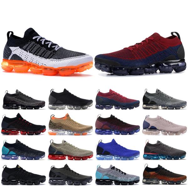 Knite 2.0 Tasarımcı Ayakkabı CNY Üçlü Siyah Beyaz Çok Renkli Safari Womens Ayakkabı Siyah Sıcak Punch Racer Mavi BHM Koşu Sneakers Fly