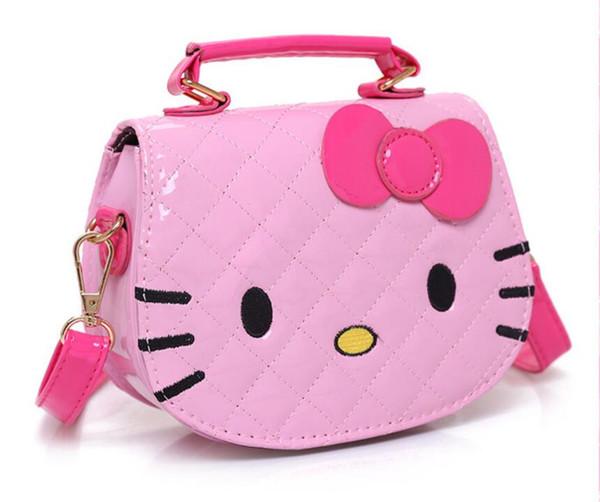 HOT NEW Girls Bag Korean Cartoon Kids Slant Bag kt Cat Head Fashion Princess Handbag Shoulder Bag 03123