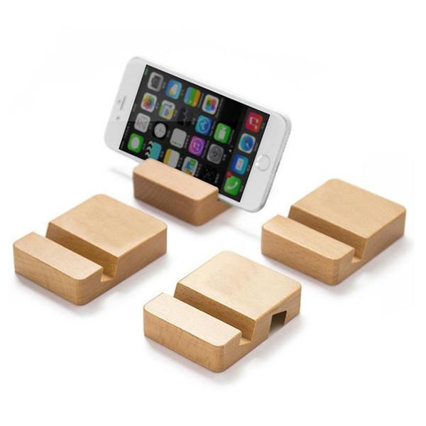 Supporto del telefono del basamento del telefono cellulare di legno si leva in piedi per l'iPhone per il basamento del telefono dello scrittorio del basamento del supporto del ridurre in pani di Samsung F3176
