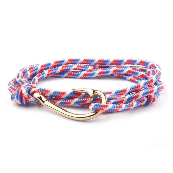 Bijoux de mode designer corde Bracelets Hommes Femmes luxe Charme or Crochet Poisson Bracelets Aimant Homme bracelets 27